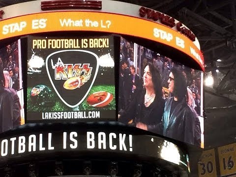 KISS Ceremonial Puck Drop Video, Los Angeles Kings - LA KISS