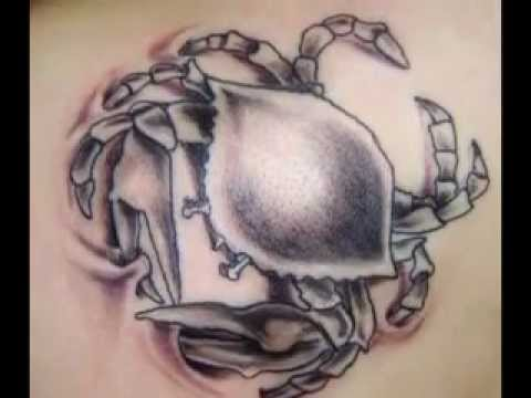 Crab Tattoos - Zodiac Cancer Designs