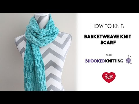 Basketweave Knit Scarf Left Hand Tutorial