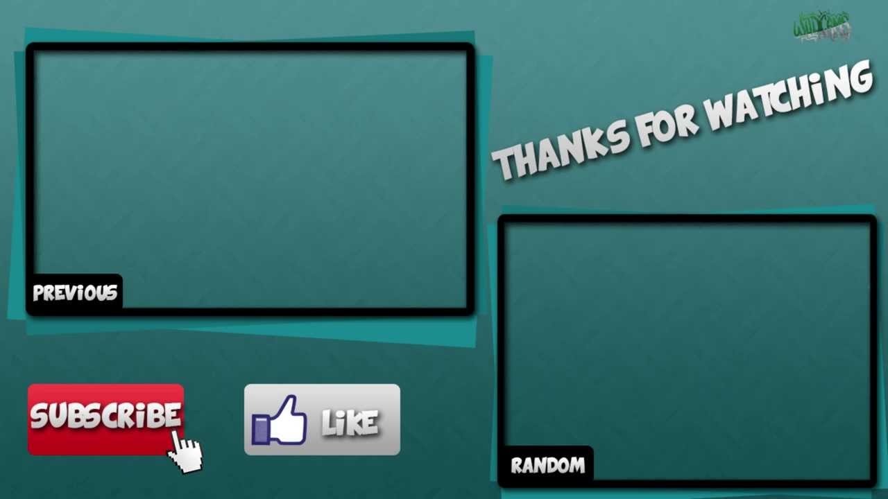 Wildcams outro template 2 youtube for Youtube outro template download