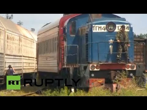 Train carrying remains of #MH17 crash victims arrives in Kharkov, Ukraine