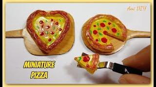 DIY Miniature Pizza ● No Polymer Clay! Cách làm Pizza thu nhỏ cho búp bê/ Ami DIY
