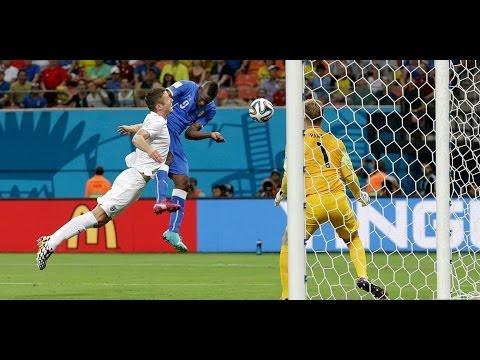 Italy vs England 2-1 Mario Balotelli Goal - World Cup 14/06/2014