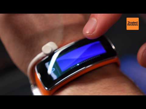 Samsung Gear Fit First Look at MWC 2014