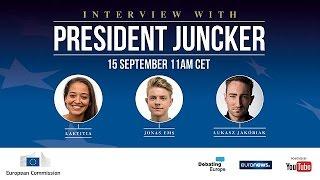 شباب أوروبيون يطرحون الأسئلة على رئيس المفوضية الأوروبية |