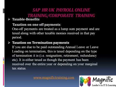 SAP HR UK PAYROLL ONLINE TRAINING