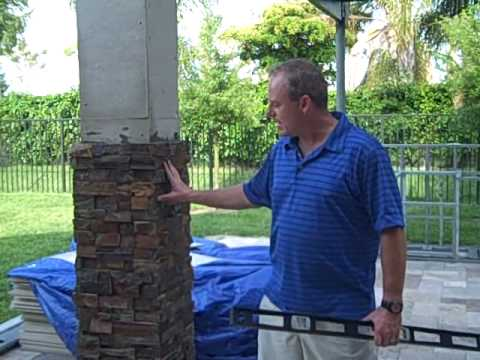 Pergola Building Tips With Stacked Stone Columns Youtube