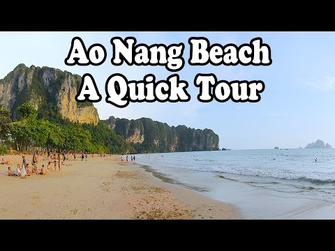 Ao Nang Beach and Noppharat Thara Beach, Krabi Thailand. A short tour