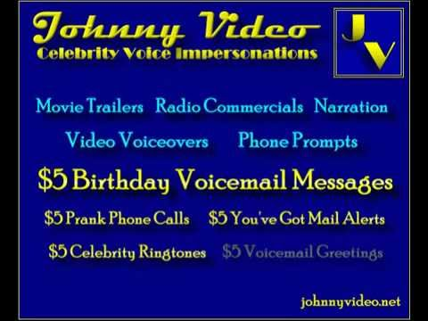 [Image: do celebrity voice impersonations for funny voicemail greetings or voice mail messages]