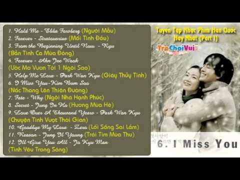 Tuyển chọn nhạc phim Hàn Quốc hay và lãng mạn nhất (Part 1)