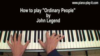Ordinary People John Legend Piano Tutorial