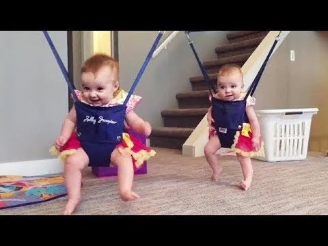 BEST FUNNY Funny Twins Baby Enjoy Jumping | Funny Vines Compilation