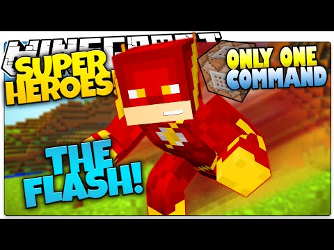 Minecraft | How To Be A Superhero! | THE FLASH! | Only One Command (One Command Creation)
