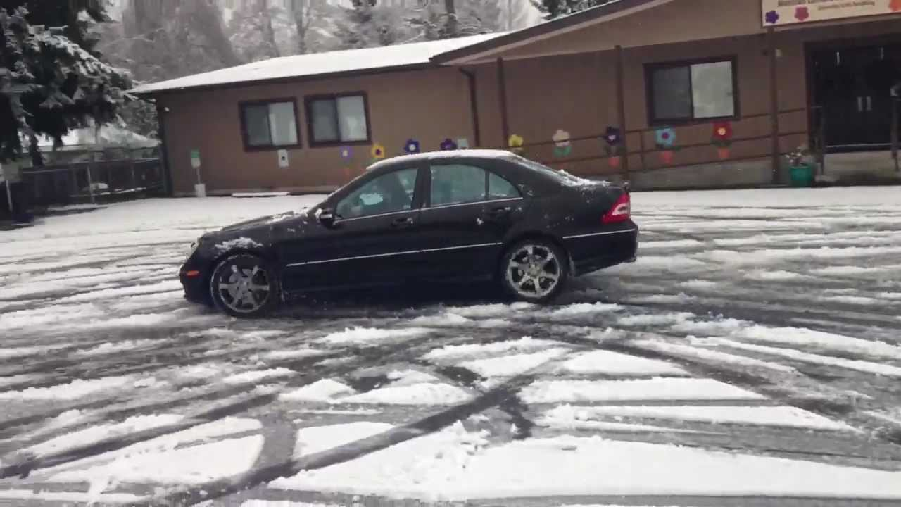 Bmw 328i Brake Pads Mercedes C230 Sport and BMW 328i Drifting in Snow wit - YouTube