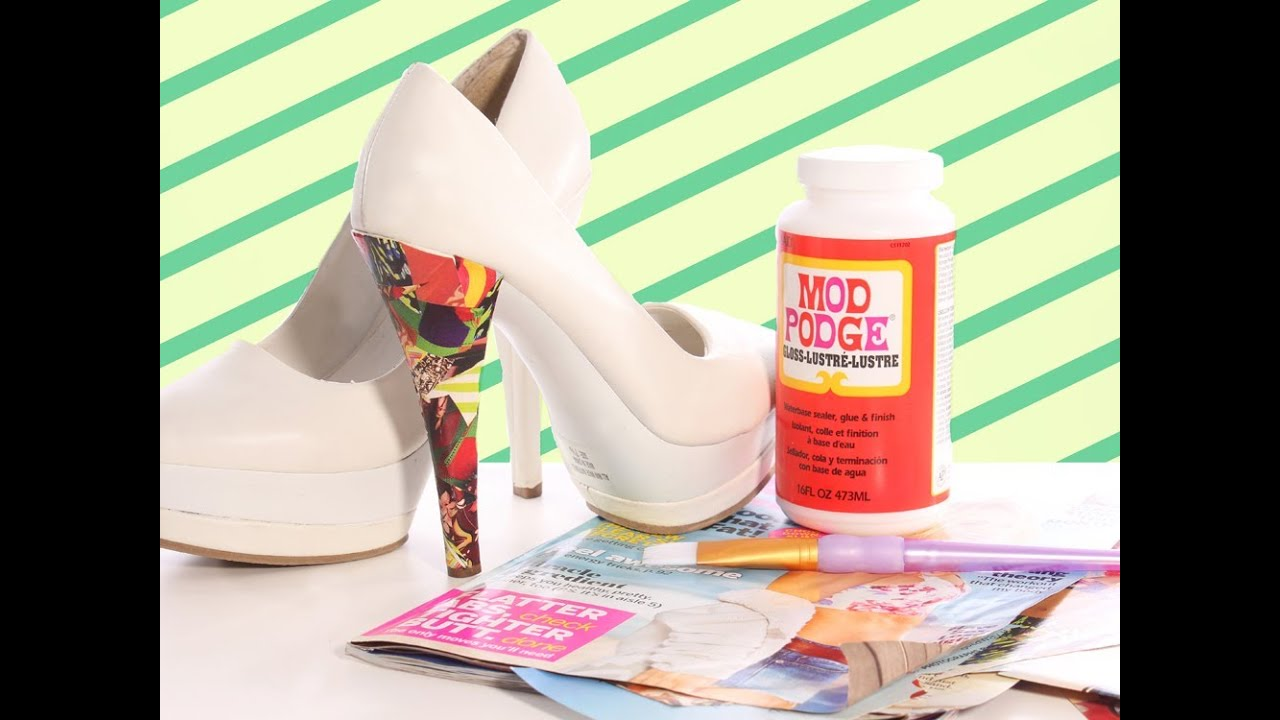 Mod Podge On Leather Shoes