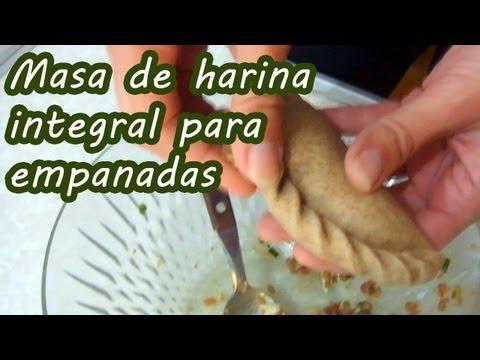 Masa de harina integral para empanadas