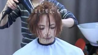 Haircc Haircut Black Long To Gold Bob Makeover 02