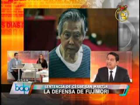 La defensa de Alberto Fujimori se pronuncia por fallo de San Martín