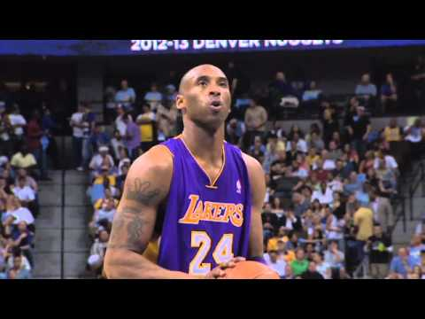 Welcome Back, Kobe! (w/ LAL vs GSW FT shot from last year)