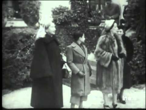 Nam Phương hoàng hậu và thái tử Bảo Long tại Pháp