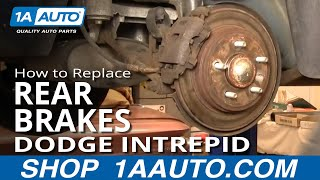 How To Install Replace Rear Brakes On Dodge Intrepid 98-04