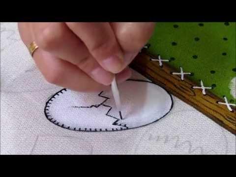 Pintura em tecido: Galinha d' Angola Country P-3