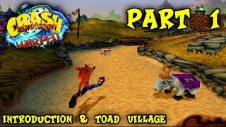 Let's Play Crash Bandicoot 3: Warped - Part 1 - Introduction & Toad Village