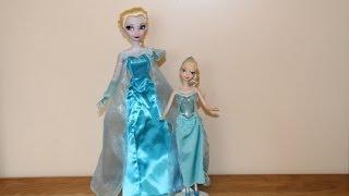 "BOTH DOLLS! Disney ELSA 16"" Singing Doll & Mattel Musical"
