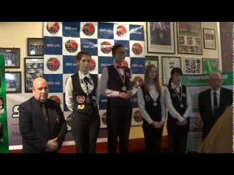 Medal Ceremony of 2013 IBSF World 6Red Snooker (WOMEN)
