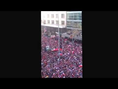 Downtown Santiago, Chile after World Cup victory 2014