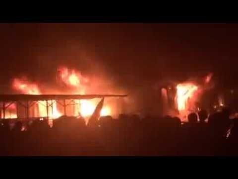 Cháy lớn ở chợ Phố Hiến - Thành phố Hưng Yên