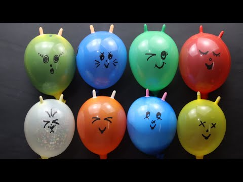 Making crunchy slime with funny balloons.Relaxing slime vidio.ASMR.