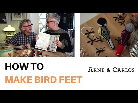 How to make the feet for our Knitted Birds by ARNE & CARLOS