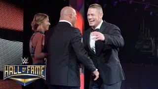 Kurt Angle is welcomed home to WWE by John Cena: WWE Hall of Fame 2017 (WWE Network Exclusive)