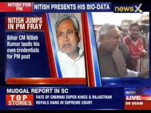 Nitish Kumar lauds self for Prime minister