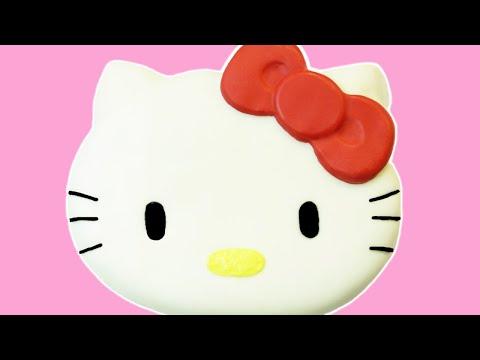 HOW TO MAKE HELLO KITTY CAKE - NERDY NUMMIES