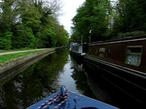 Floating the Llangollen Canal by narrowboat in England