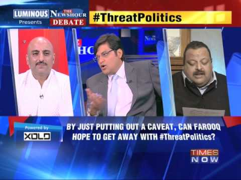 The Newshour Debate: Threat Politics: Did Farooq threaten PDP? - Part 1 (18th April 2014)