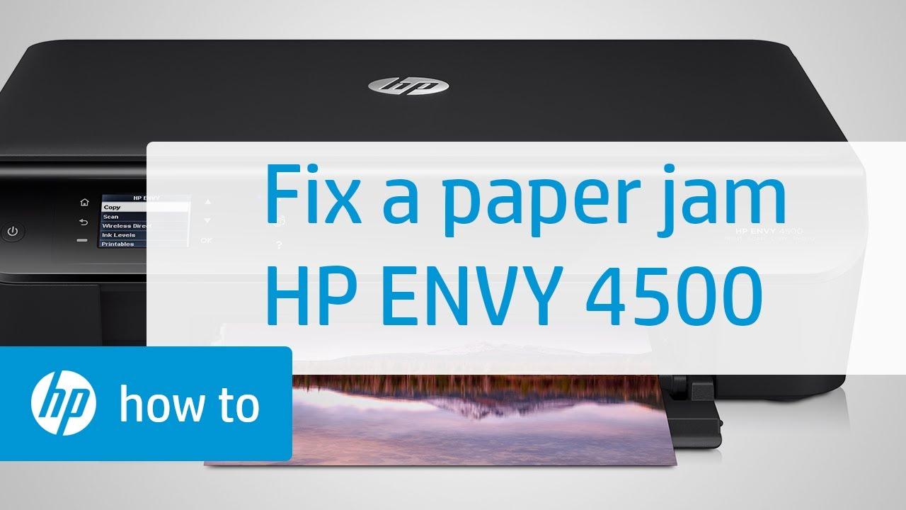 Hp envy paper jam help