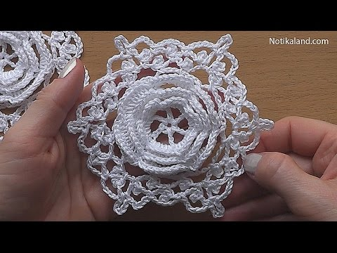 CROCHET Flower Motif  Hexagon  Easy Pattern Tutorial  Part 1 Crochet hexagon 3d motif #2