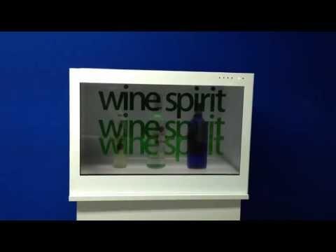 transparent display wine