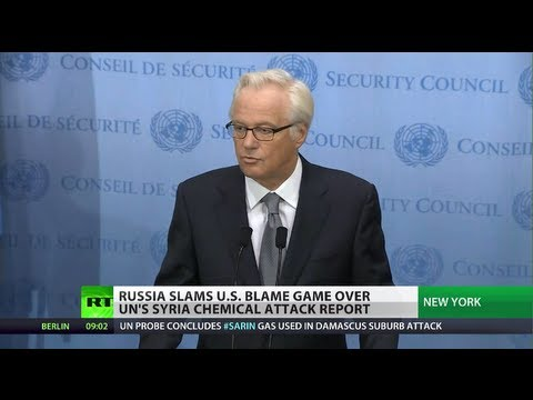 Russia slams US blame game over UN Syria chemical attack report