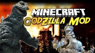 Minecraft: GODZILLA Mod Showcase! [NEW POWERFUL MOBS