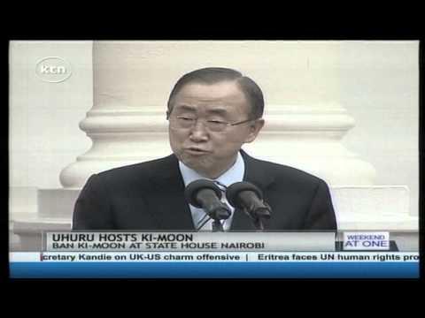 President Kenyatta hosts United Nations Secretary General Ban Ki Moon in statehouse