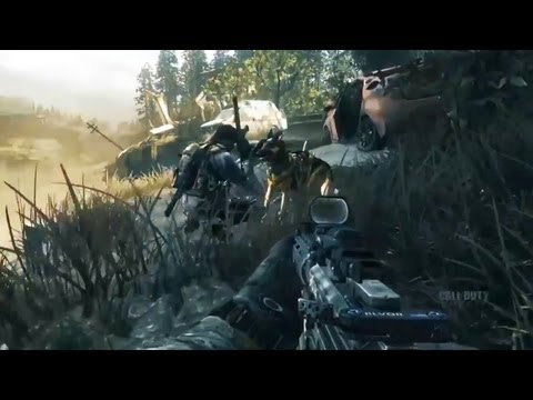 Call of Duty: GHOSTS Singleplayer Gameplay! Underwater Map & Attack Dog Riley (Official COD E3M13)