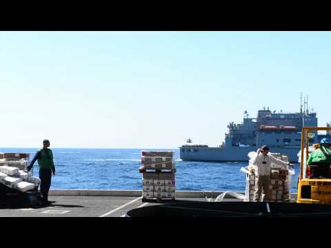 140314-N-VH054-006: USS George H.W. Bush (CVN 77) Receives Replenishment-at-Sea