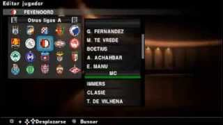 PES 2013 OPTION FILE PS2/SAVEDATA PSP TEMPORADA 2013-2014