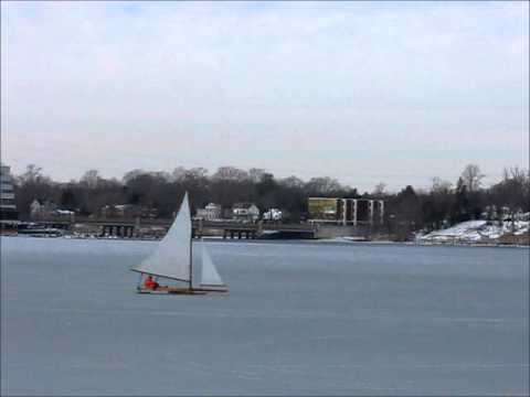 Navesink ice boating 1/27/2014 Red Bank NJ