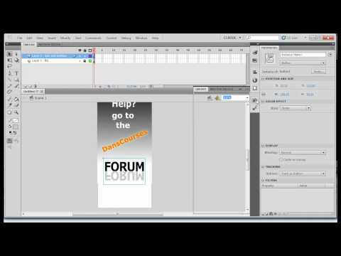 Flash CS5 Beginner - Create a Banner Ad - Part 3