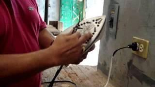 Como arreglar una plancha eléctrica de vapor